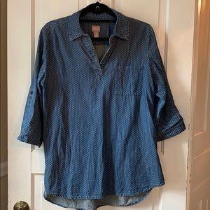 Chico's tunic style denim shirt